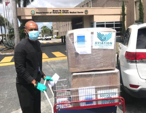 Face masks delivery to hospital